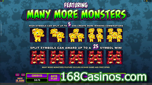 So Many Monsters Slot Featuring