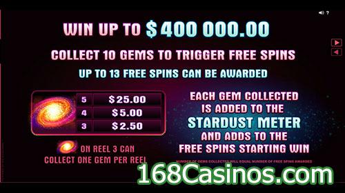 Star Dust Video Slot Bonus
