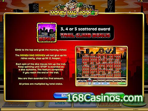 Money Mad Monkey Video Slot Paytable