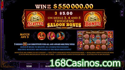Pistoleras Slot Saloon Bonus Game