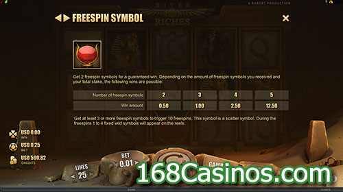 River of Riches Slot Free Spin Symbol