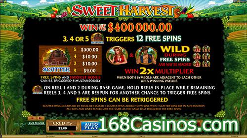 Sweet Harvest Slot Free Spins