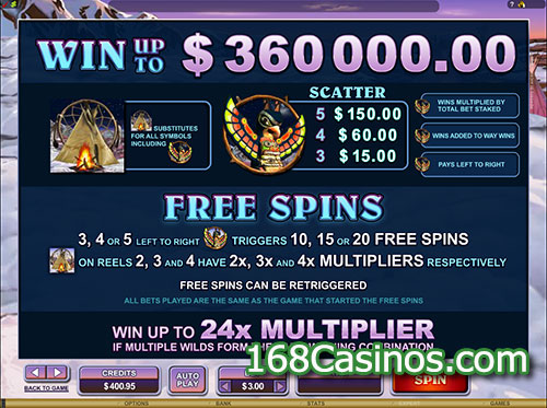 Mystic Dreams Slot Free Spins Bonus