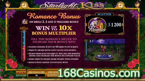 Starlight Kiss Online Slot Romance Bonus