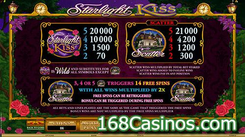 Starlight Kiss Slot Bonus Feature