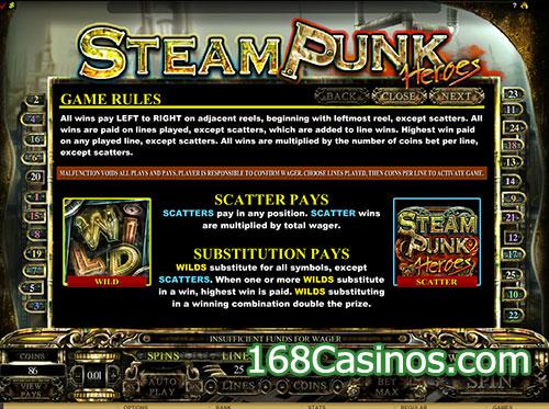 Steam Punk Heroes Slot Game Rule