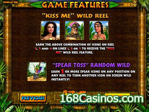Aztec Treasures Online Slot - Game Features