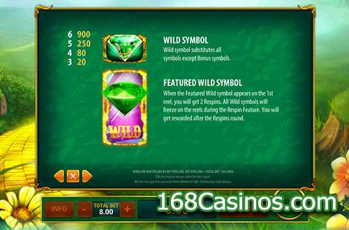 Magic Of Oz Slot Bonus