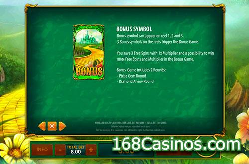 Magic Of Oz Video Slot Bonus
