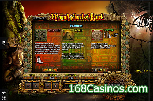 Maya Wheel of Luck Slot Bonus