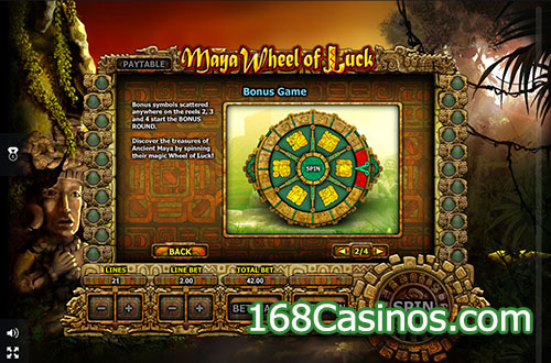Maya Wheel of Luck Video Slot Bonus