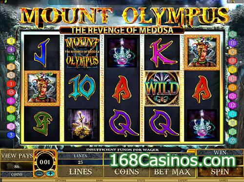 Mount Olympus - Revenge of Medusa Slot