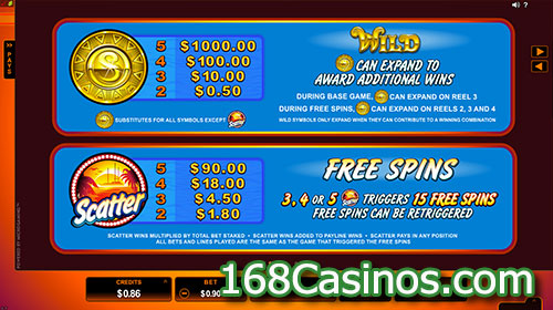 SunTide Slot Free Spin Feature