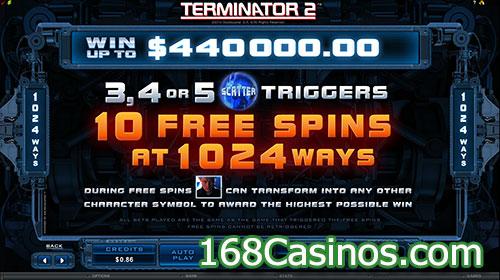Terminator 2 Slot Free Spin Bonus