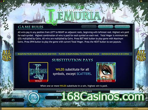 The Forgotten Land of Lemuria Online Slot Bonus
