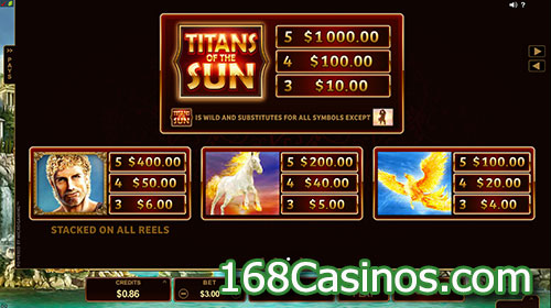 Titans of the Sun - Hyperion Slot - Bonus Games
