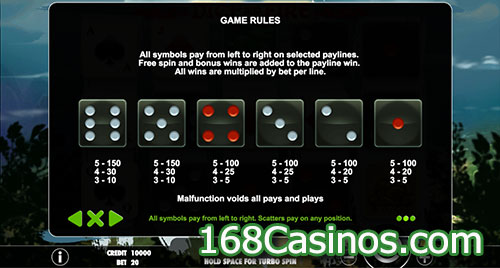 Dice and Fire Slot Game Rule