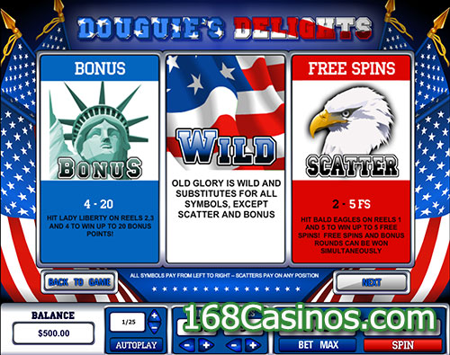 Douguie's Delights Video Slot Bonus