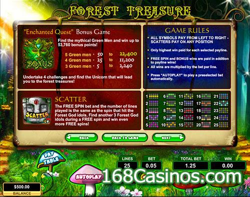 Forest Treasure Slot Bonus